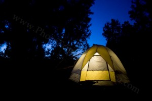 Camping Tent Glows at Night - Photo Tripping America