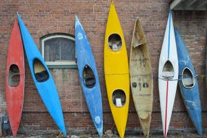 Collection of Old Kayaks - Photo Tripping America