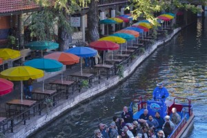 Boat on San Antonio Riverwalk - Photo Tripping America