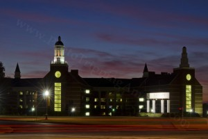 Baylor University at Night - Photo Tripping America